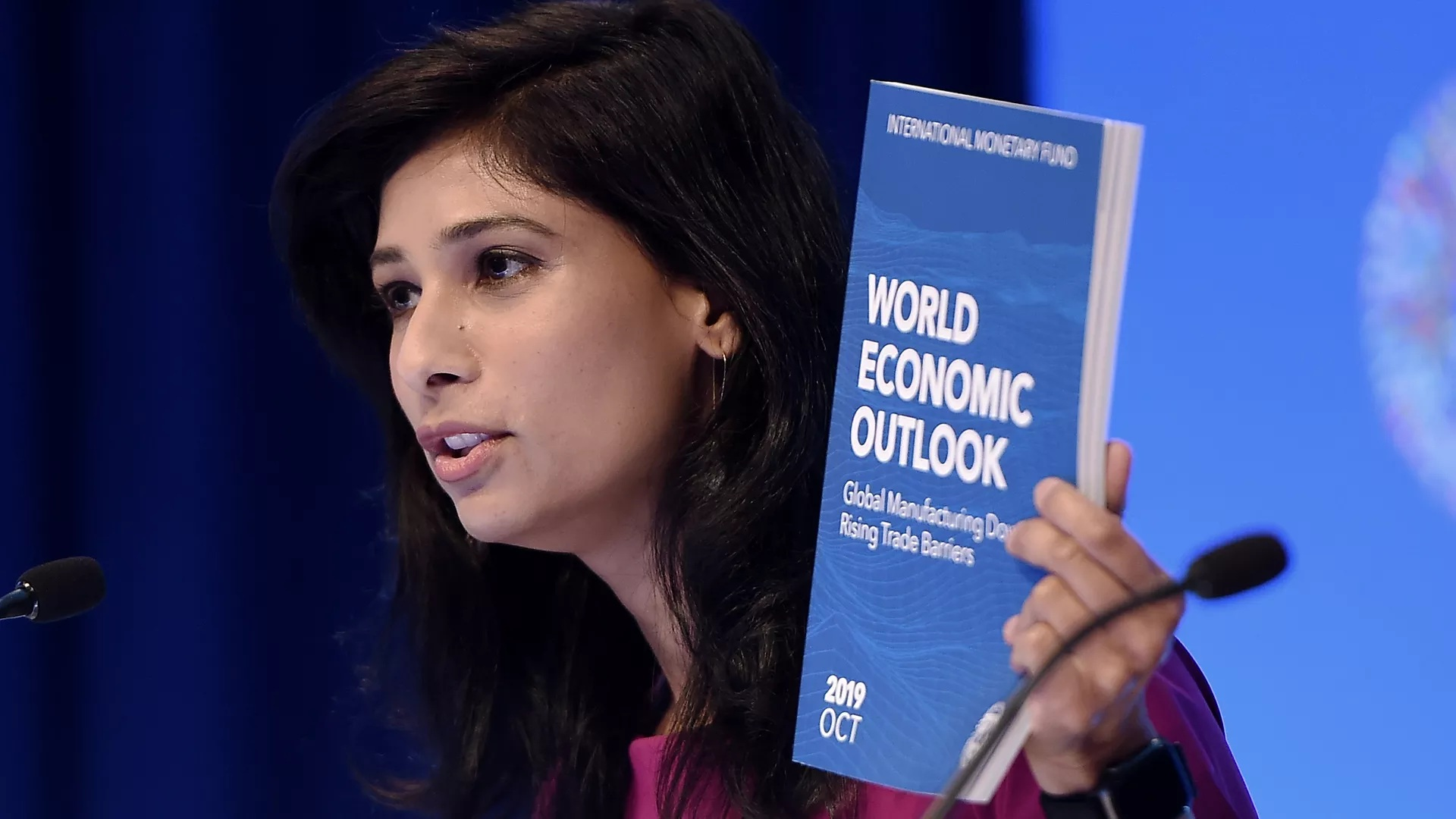 Gita Gopinath chief economist and director of the Research Department at the International Monetary Fund